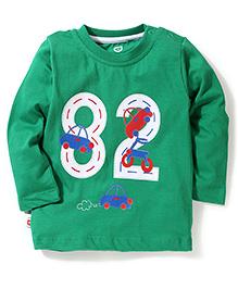 Baby League Full Sleeves T-Shirt 82 Print - Green