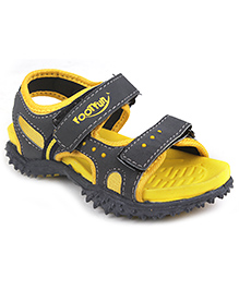 Footfun Floater Sandals With Velcro Closure - Yellow