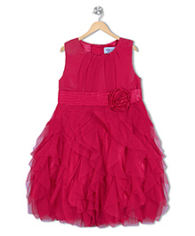 Soul Fairy Fuchsia Net Ruffles Party Dress