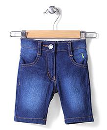 Babyhug Denim Wash Shorts - Blue