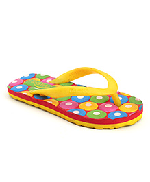 Footfun Flip Flops Circle Design - Yellow