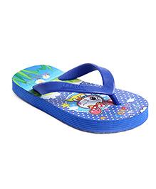 Footfun Flip Flops - Blue