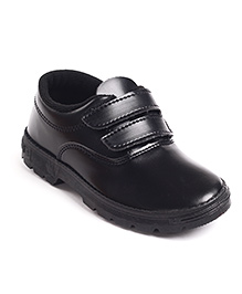 Prefect By Liberty School Shoes With Dual Velcro Closure - Black