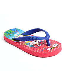 Footfun Flip Flops - Red Blue
