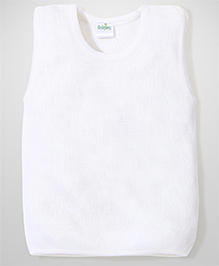 Babyhug Sleeveless Sweater Solid Colour - Off White