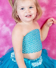 Funky Baby Crochet Tube Top - Turquoise Blue