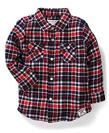 Pumpkin Patch Full Sleeves Checks Shirt - Red