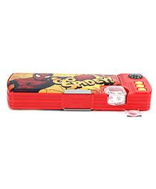 Spiderman Pencil Box - Red & Yellow