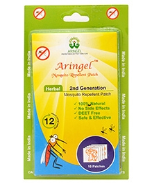 Aringel Second Generation Herbal Mosquito Repellent Patch - 10 Patches