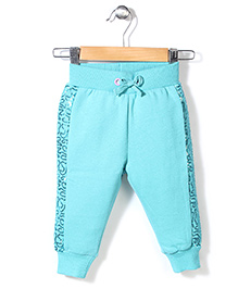 Pumpkin Patch Sequin Pant With Drawstring - Turquoise