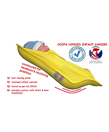 Baby Kare Hoopa Hooded Infant Carrier - Yellow