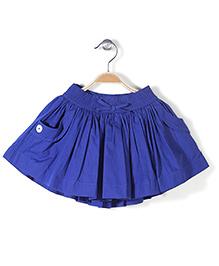 Pumpkin Patch Pleated & Gathered Skirt - Blue