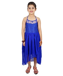 Kidzblush Halter Neck Asymmetrical Party Dress - Blue