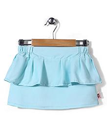Chic Girls Peplum Skirt Plain - Light Blue