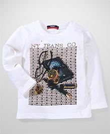 Noddy Original Clothing Printed Pullover T-Shirt - White