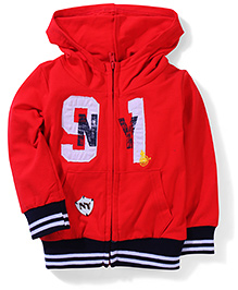 Noddy Original Clothing Hooded Sweat Jacket - Red