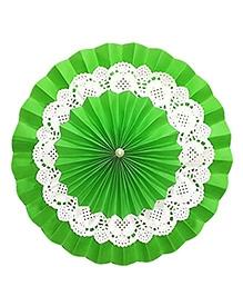 Prettyurparty Green Rosette Paper Fans - Medium