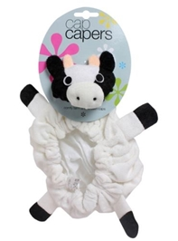Stephen Joseph Cap Capers Cow - White