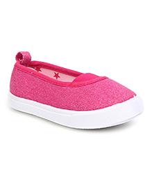 Pumpkin Patch Slip On Shimmer Shoes - Fuchsia