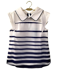 Top With Stripes - Blue