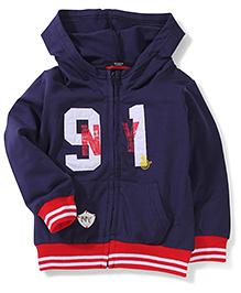 Noddy Original Clothing Hooded Sweat Jacket - Navy Blue