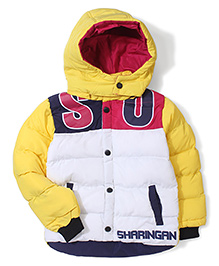 Noddy Original Clothing Hooded Jacket - White And Yellow