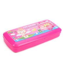 RKs Happy Friend Cherry Print Pencil Box - Pink