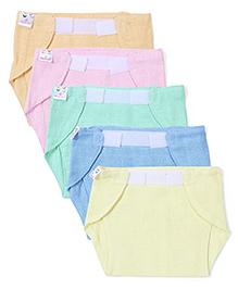 Tinycare Velcro Closure Nappy Small Multicolor Large - Set Of 5