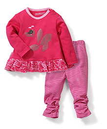 Wonderchild Full Sleeves Top And Leggings - Pink