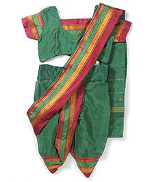 Bhartiya Paridhan Nauvari Saree Set Mikta Panji Border - Green