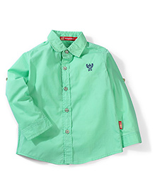 Kidsplanet Full Sleeves Solid Color Shirt - Green
