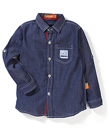 Minisafari Baby Full Sleeves Shirt - Blue