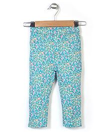 Hallo Heidi Full Length Pant Floral Print - Green