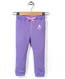 Hallo Heidi Solid Color Track Pant - Purple