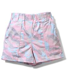 Jolly Jilla Abstract Print Shorts - Multi Color