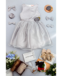 Little Coogie Party Dress - Silver