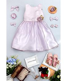 Little Coogie Party Dress - Purple
