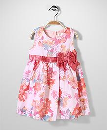Bebe Wardrobe Sleeveless Dress Floral - Pink