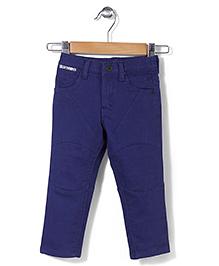 Gini & Jony Fixed Waist Jeans Solid Colour - Dark Blue