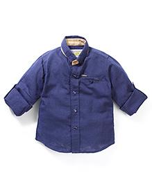 Gini & Jony Full Sleeves Plain Shirt - Navy Blue