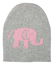 Pluchi Baby Elephant Knitted Cap - Vanilla Grey & Pink
