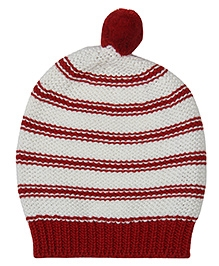 Pluchi Lola Knitted Cap - Red & Ivory