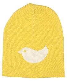 Pluchi Birdie Knitted Cap - Yellow & Ivory