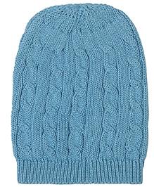 Pluchi Granny's Love Knitted Cap - Blue