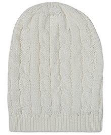 Pluchi Granny's Love Knitted Cap - Ivory