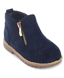 Doink Ankle Length Boots Zip Closure - Navy