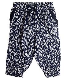 My Lil Berry Printed Pants - Blue White