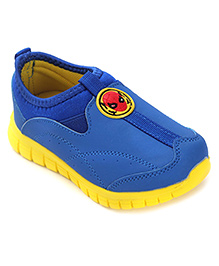 Spider Man Casual Shoes Slip On Style - Yellow Blue