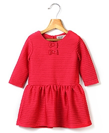 Beebay Bow Pleated Dress - Red
