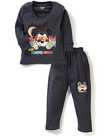 Bodycare T-Shirt And Legging Set Mickey Mouse Print - Melange Grey